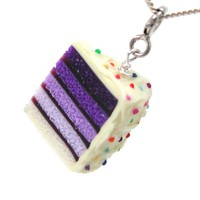 Purple Ombre Cake Necklace - Whimsical & Unique Gift Ideas for the Coolest Gift Givers