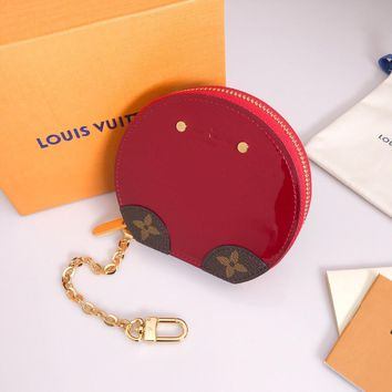 Louis Vuitton Lv Monogram Pouch Bag Charm And Key Holder Red - Best Online Sale