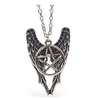 Hot Sale Factory Price Fashion Supernatural Necklace Pentagram Pendant Castiel Wings Angel Wicca US SELLER Jewelry