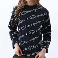 Champion Fashionable Women Men Print Long Sleeve Sweater Pullover Top Sweatshirt