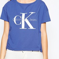 Calvin Klein Jeans Cropped Boxy T-Shirt With Logo