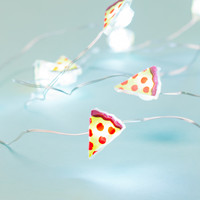 Pizza Red & Yellow String Lights