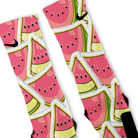 Watermelon Custom Nike Elite Socks