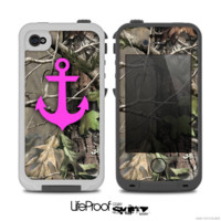 The Real Camouflage and Pink Anchor V1 Skin for the iPhone 4-4s or 5 LifeProof Case