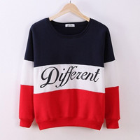 Letter Printed Women Pullovers Tops Sweat Shirt Blouse Sweater Thick Tracksuits Sudaderas Clothes