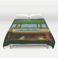 Pitfall! Duvet Cover by Likelikes