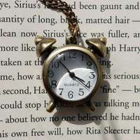 Traditional Alarm Clock Necklace   Wicked Clothes