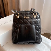Dior's new fashion multi-purpose rhombus all-match backpack bag
