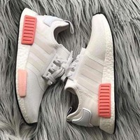simpleclothesv : Adidas NMD Fashion Sneakers Trending Running Sports Shoes Whtie-pin