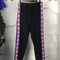 SPBEST Vetements X Champion Cotton-blend Track Pants in Black (trending right now)