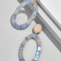 Triana Hoop Resin Earrings