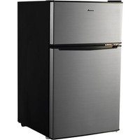 3.1 Cu. Ft. Small Mini Compact Two-Door Refrigerator, Stainless Steel