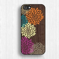 brilliant flower case,IPhone 5s case,flower IPhone 5c case,color IPhone 5 case,IPhone 4 case,IPhone 4s case,wood flower case,FI251