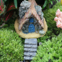Stone House Fairy Garden Miniature Craft Micro Landscape Decoration Random HU