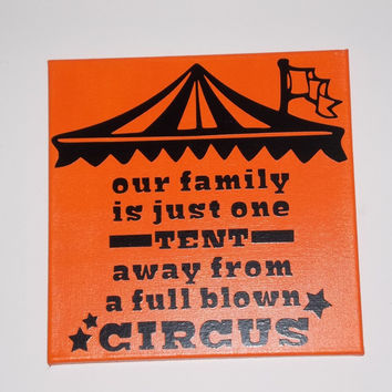 FAMILY CIRCUS  Painted/Decorated  Canvases - you pick colors