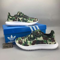 """""""Adidas Tubular Shadow"""" Unisex Sport Casual Camouflage Coconut Sneakers Couple Light Running Shoes"""
