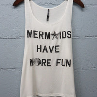 Be A Mermaid Top: Ivory