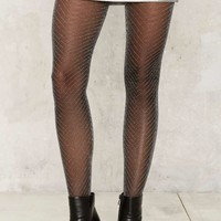 Zig Zag Sheer Tights