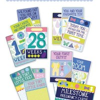 Infant Girl's Milestone Baby Cards Illustrated Pregnancy Cards (Set of 30)