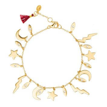 Lightning Charm Bracelet (Yellow Gold)