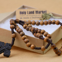 Original Olive Wood rosary with Holy Soil Cross-Express delivery,Rosary prayer, The holy rosary, Rosery, Byzantine-EXCLUSIVE LIMITED EDITION