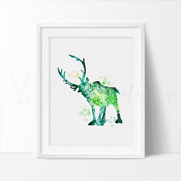 Sven, Frozen Watercolor Art Print