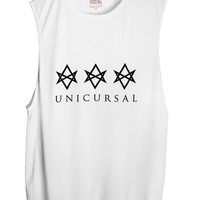 Once Youth Unicursal Muscle Tank in White