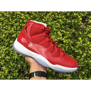 Air Jordan Retro 11 Gym Red Chicago Basketball Shoes Men Women 11s Gym Red Black White Athletic Sneakers High Quality With Shoes Box