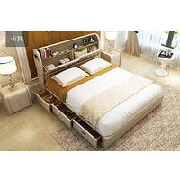Leather Storage Sectional Supreme Furniture Bed