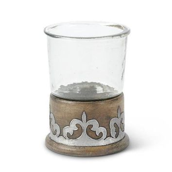 Wood/Metal Glass Tumbler