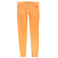 Dsquared2 Womens Zip Legs Low-Rise Colored Skinny Jeans