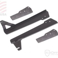 "TJ/LJ Low Profile 50"" LED Light Bar Upper Windshield Mounting Brackets 97-06 JCR Offroad 
