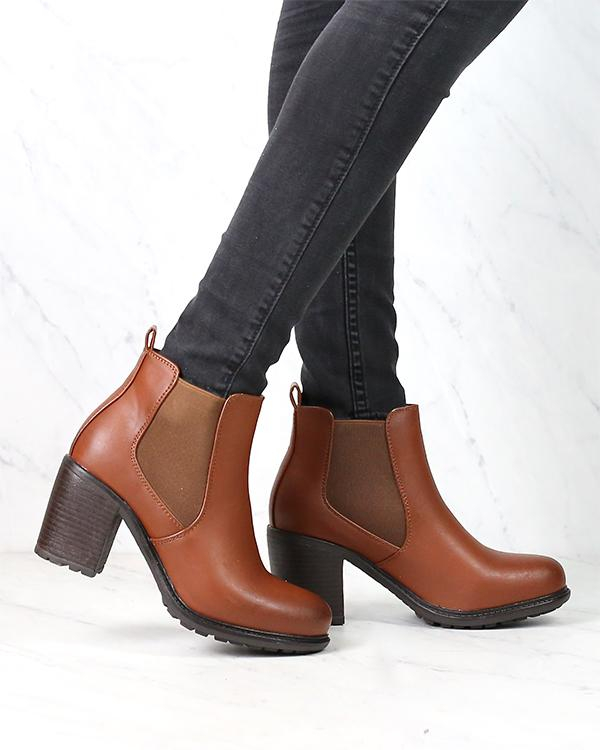 Image of Vegan Leather Chelsea Boots in Camel