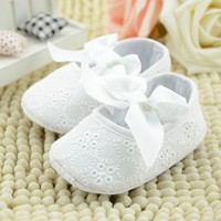 All White Infant Girls Shoes Soft Bottom Shoes Toddler Shoes Baby Shoes