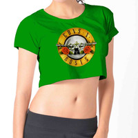 Guns N Roses 303 Crop Shirt , Custom Crop Shirt , Woman Crop Shirt