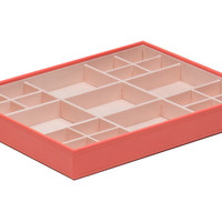 Stackables Large Standard Tray, Coral, Letter Trays