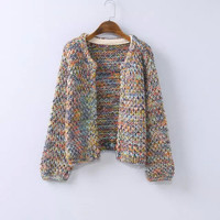 Long-Sleeve Knitted Cardigan