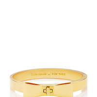 Kate Spade Perfectly Placed Hinged Bow Bangle Gold ONE