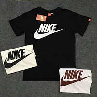 NIKE Sports Casual Breathable Sweat Crew Neck Short Sleeve T-Shirt F-Great Me Store Black