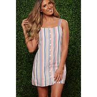 She Has It Made Striped Dress (Coral)