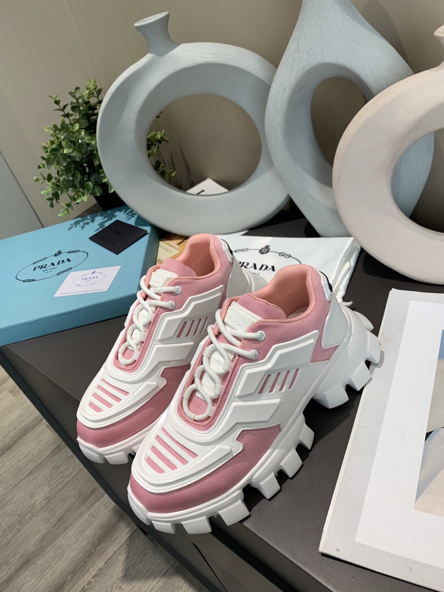Image of prada womans mens 2020 new fashion casual shoes sneaker sport running shoes 26