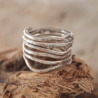 Sterling Free Form Band Ring - Branches Ring