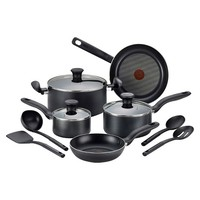 T-fal Simply Cook Nonstick C518SC Dishwasher Safe Cookware 12 Pc Set