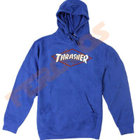 Thrasher og Magazine Adult Hoodies Royal Blue Pull Over - Ferolos
