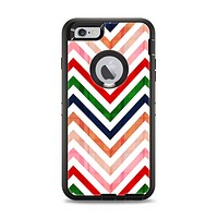 The Vibrant Fall Colored Chevron Pattern Apple iPhone 6 Plus Otterbox Defender Case Skin Set