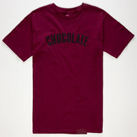 Chocolate League Mens T-Shirt Burgundy  In Sizes