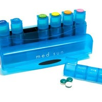Med Sun 7 Day 4 Dose Pill Organizer (Color May Vary)