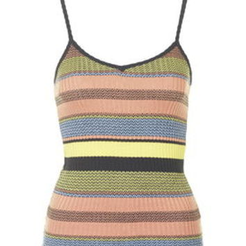 Knitted Stripe Cami - Yellow