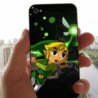 Green Zelda Run to Fight Case for iPhone 4/4S iPhone 5/5S/5C Samsung Galaxy S3 Samsung Galaxy S4