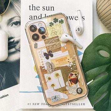 Aesthetic Mood Board Collage Clear Case
